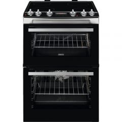 Zanussi ZCV66078XA 60Cm Electric Double Oven With Ceramic Hob - S/S - A/A Rated